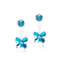 Blomdahl Pendant Butterfly Aquamarine - Hairsale.se