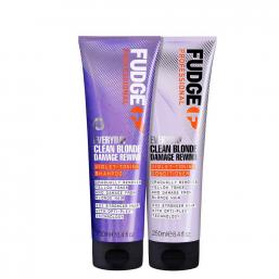 Fudge Clean Blonde Damage Rewind Violet Shampoo + Conditioner Duo - Hairsale.se