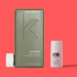K18 Leave in Mask 15ml + Maxi Wash 250ml - Hairsale.se
