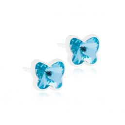 Blomdahl Plastic Butterfly Aquamarine - Hairsale.se