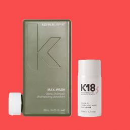 K18 Leave in Mask 50ml + Maxi Wash 250ml - Hairsale.se