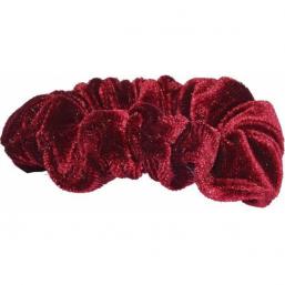 Pieces By Bonbon Märta Small Scrunchie Red - Hairsale.se