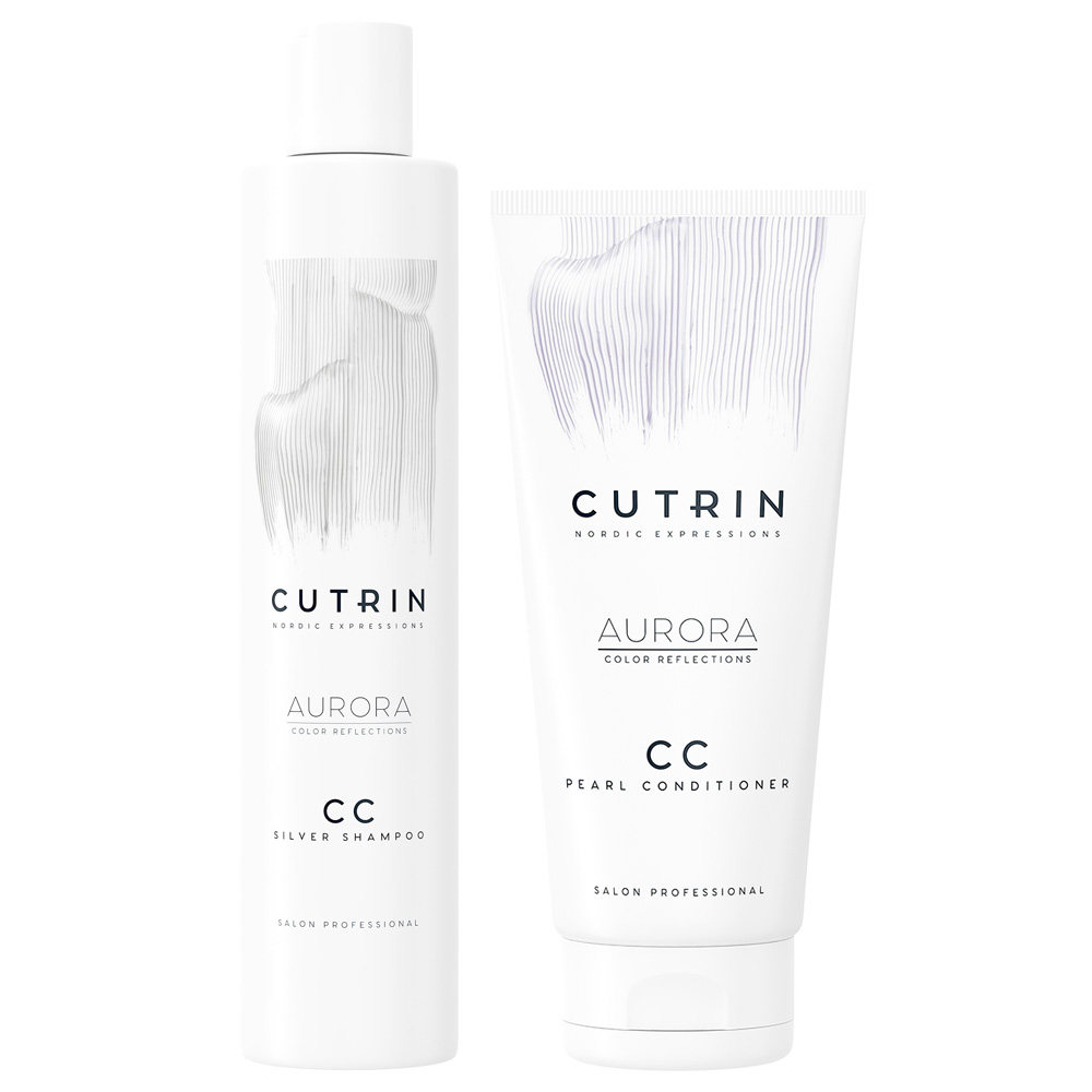Cutrin Aurora CC Silver Shampoo+Conditioner DUO - Hairsale.se