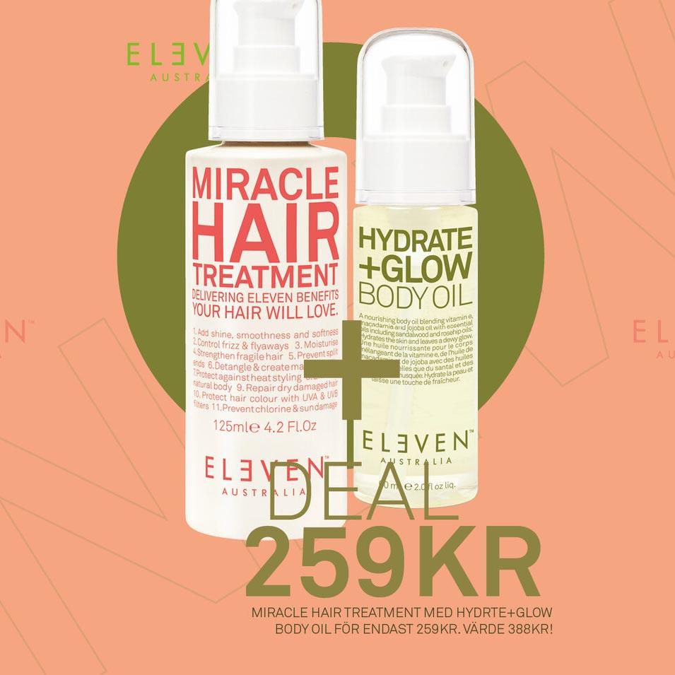Eleven Australia Miracle Hair Treatment + Hydrate +Glow Body Oil