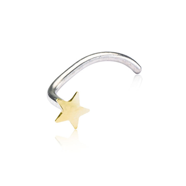 Blomdahl Nose Star Gold